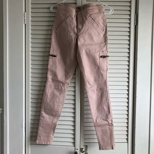 Pants - Target pink skinny jeans with zippers